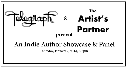 C'ville Indie Author Showcase Event ~ Thurs Jan 9